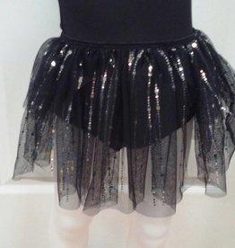 Basic Moves 2328FM-Square Hologram Skirt-BLACK