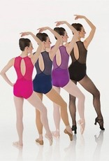 BodyWrappers P1006-Power Mesh Slit Back Leotard