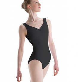MotionWear 2201-497-Pinch Front Sweetheart Leotard-BLACK