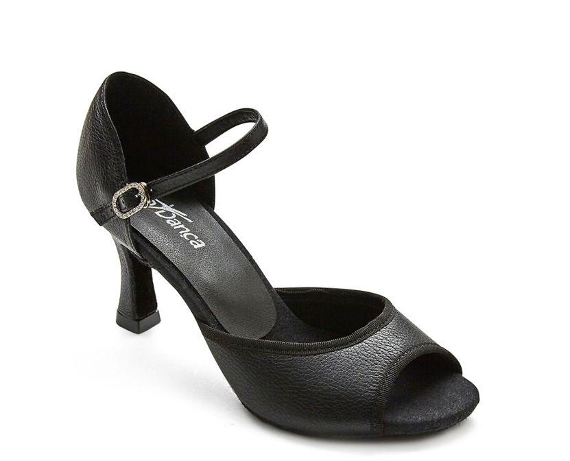 SoDanca BL170-Radha Ballroom Shoes 2.5'' Suede Sole-BLACK LEATHER