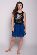 Sugar & Bruno D8081-To The Music Low Back Tank-S-M