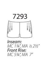 MotionWear 7293-Rhinestone Adult Shorts-BLACK