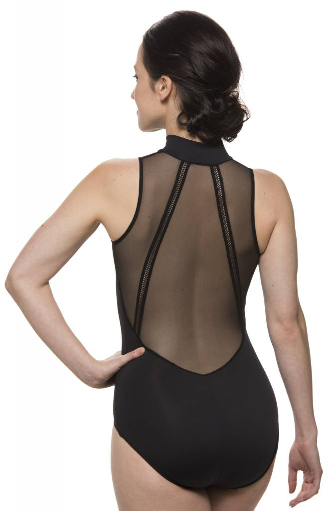 AinslieWear 1065ME-Bryn With Mesh And Zoe Elastic-BLACK-XLARGE