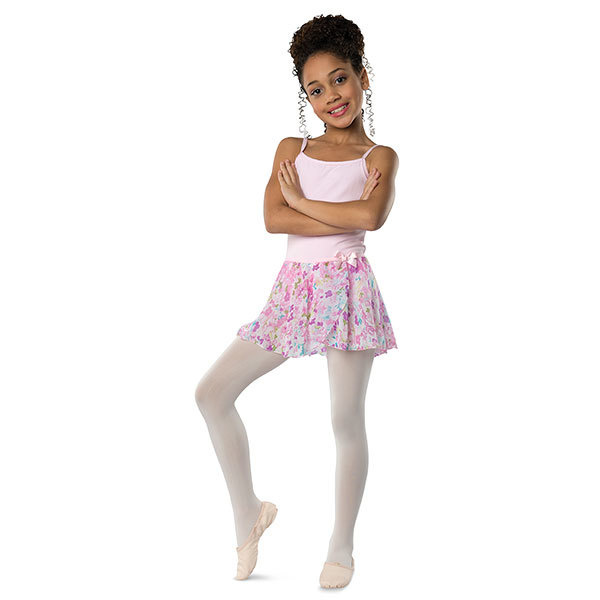 Danshuz 2605C-Jupe Imprimé Fleur Enfant