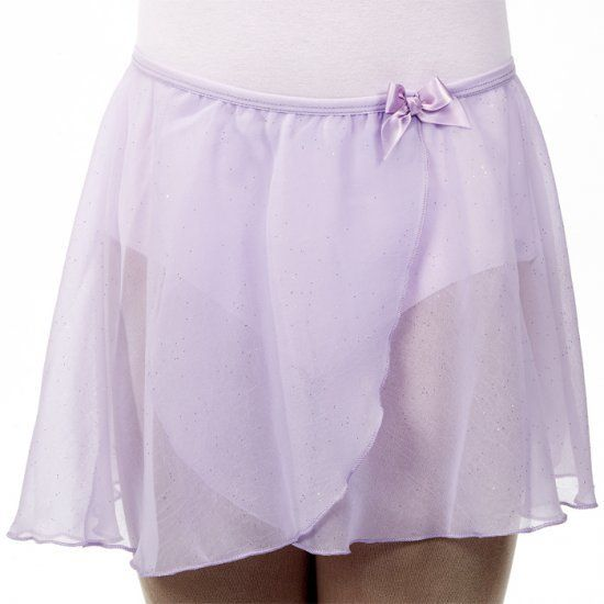Dasha 4433L-Child Crinkle Glitter Skirt-LILAC