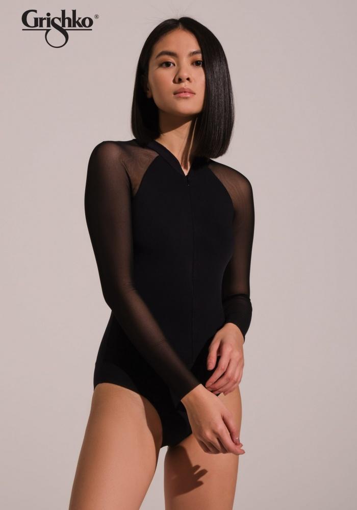 Grishko DA2020MP-Fiala Long Sleeve Leotard-BLACK
