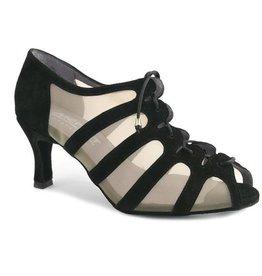 """Merlet SYA-Ballroom Shoes 2.5"""" Suede Sole-SUEDE BLACK"""