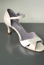 "Merlet SILOE-Ballroom Shoes 2.5"" Suede Sole Metis Leather-PEARL"