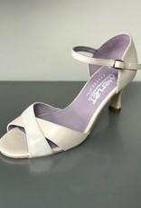 "Merlet SILOE-1300-903-Ballroom Shoes 2.5"" Suede Sole Metis Leather-PEARL"