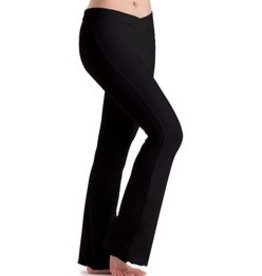 MotionWear 7163-V-Waist Pants-BLACK