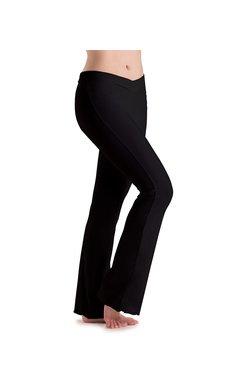 MotionWear 7163-V-Waist Pants-BLACK