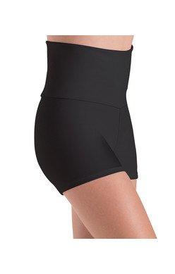 MotionWear 7022-Higher Waist Shorts-BLACK