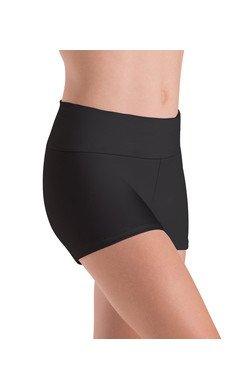 MotionWear 7022-497-Higher Waist Shorts-BLACK