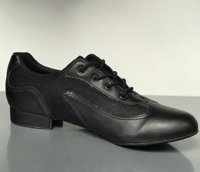 "SoDanca BL230-Ronnie Ballroom Men Shoes 1"" Suede Sole-BLACK"