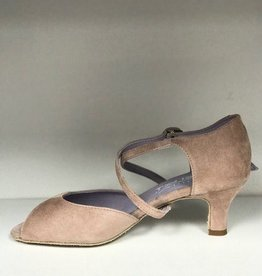 "Merlet DALIA-Ballroom Shoes 2"" Suede Sole Velvet Leather-FICELLE"