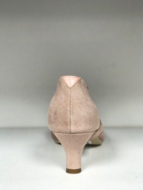 "Merlet DALIA-1399-107-Ballroom Shoes 2"" Suede Sole Velvet Leather-FICELLE"