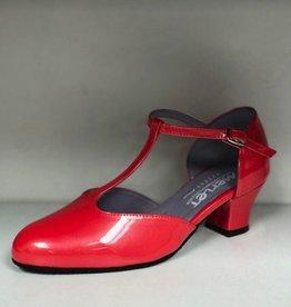 "Merlet EVA-Ballroom Shoes 1.7"" Suede Sole Liquido Leather-CORAL"