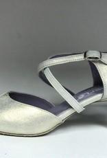 Merlet DALIA-Ballroom Shoes 2'' Suede Sole Palveroso Leather-CHAMPAGNE