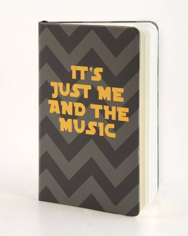 B Plus 300CC27-Its Just Me And The Music Chit Chat Notebook 3''x 5