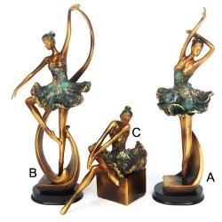 Dasha 6611C-Posed Ballerina Figurine (sitting)