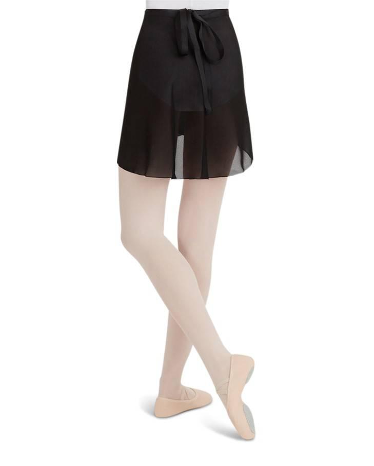 Capezio N272-Georgette Wrap Skirt-BLACK