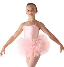 "Leo's Dancewear 30-18-Bando Tutu 4 layers 6""-BLACK-CHILD"