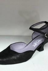 "Merlet BADRAS-Ballroom Shoes 1.7"" Suede Sole Canaula Leather-BLACK"