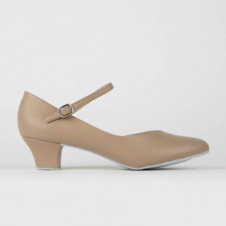 """SoDanca CH791-Ballroom Shoes 1.5"""" C Suede Sole-TAN"""