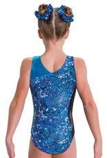 MotionWear 1655-506-Gym Asymmetrical Tank Leo-OUT OF BLUE-MA