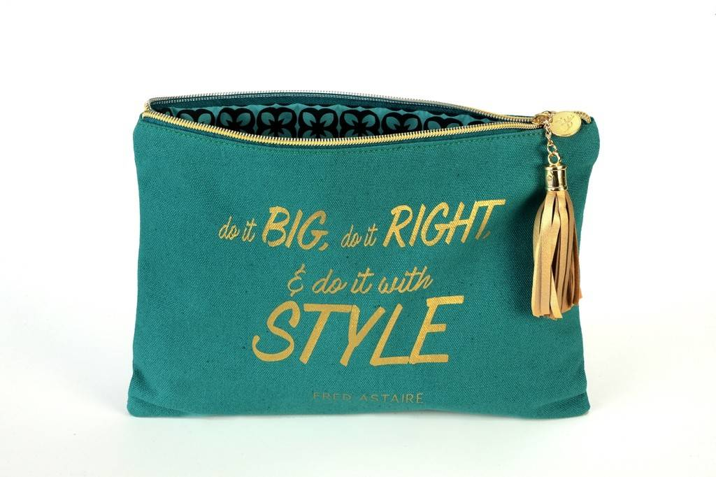 "B Plus 404CC87-Canevas Cosmetic Bags-8 1/2''x 11""-FRED ASTAIRE"