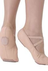 SoDanca SD60-Split sole leather ballet shoe **No Drawstring**