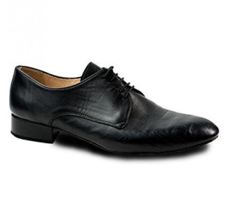 Merlet ZEPHIR-1300-001-Ballroom Men Shoes 1'' Suede Sole Metis Leather-BLACK