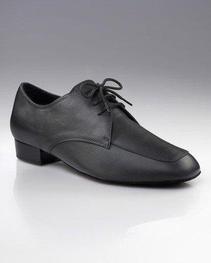 """Capezio BR116-Ballroom Men Shoes 1"""" Suede Sole Leather Black"""