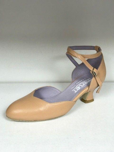 "Merlet BADRAS-Ballroom Shoes 1.7"" Suede Sole Metis Leather-BICHE"
