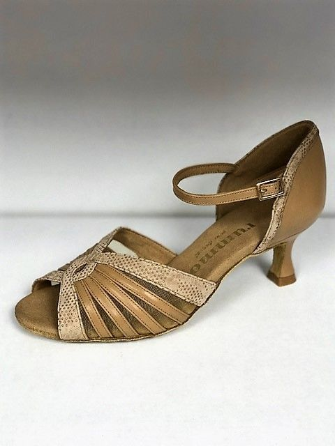 Rummos R563-246-113-50R-Ballroom Shoes 2.2'' Suede Sole Leather-TAN
