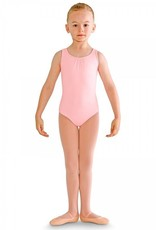 Bloch CL8685-Studded Pearl Bow Back Tank Leotard-PINK