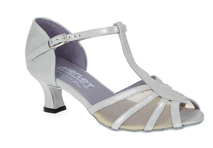Merlet KARMINA-1337-903--Ballroom Shoes 2'' Suede Sole Putini Leather-PERLA