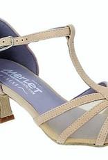 Merlet KARMINA-1404-106-Ballroom Shoes 2'' Suede Sole Velvet Leather-BEIGE