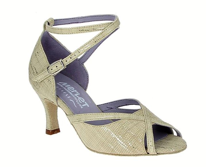 Merlet SIKITA-1438-101-Ballroom Shoes 2.5''Suede Sole Mahon Leather-BEIGE