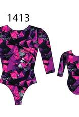 MotionWear 1413-552-3/4 Sleeve Gym Leo-KINETIC CORAL