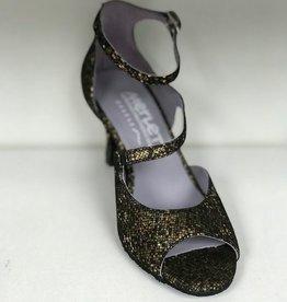 Merlet SYGNE-1315-418-Ballroom Shoes 2.5'' Suede Sole-OR