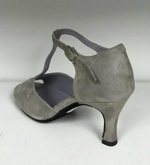 "Merlet SALAMA-1404-140-Ballroom Shoes 2.5""Suede Sole VelvetTAUPE"