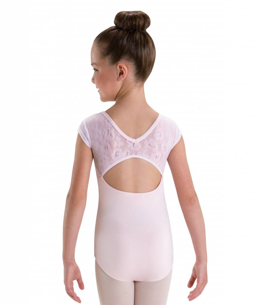 MotionWear 4498-Keyhole V-Back Cap Sleeve Leotard