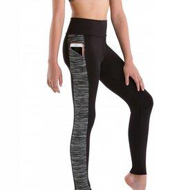 MotionWear 7161-808-Roll Top Pocket Leggings-XS