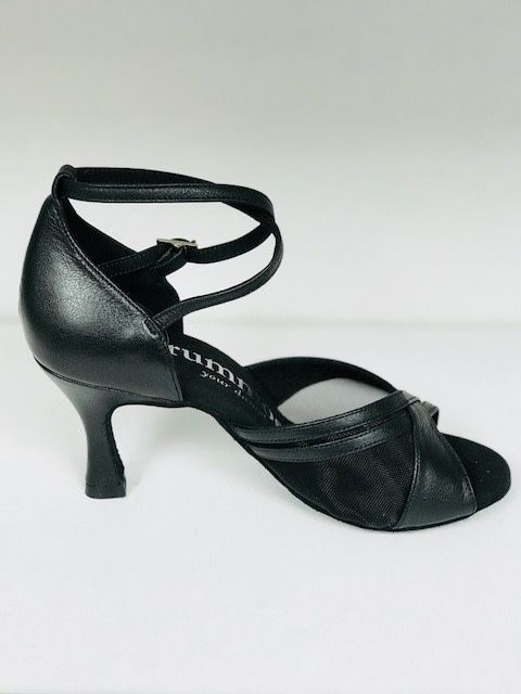 Rummos R370-Ballroom Shoes 2.75'' Suede Sole Leather-BLACK