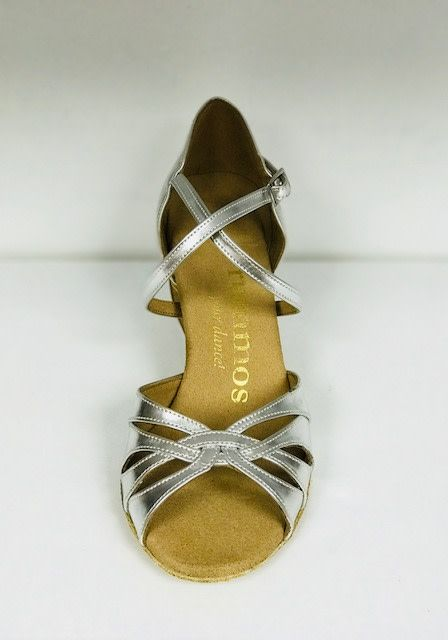 Rummos R520-009-50RR-Ballroom Shoes 2.2'' Suede Sole Leather-SILVER