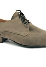 Merlet ZEPHIR-1404-140-Ballroom Men Shoes 1'' Suede Sole Leather-TAUPE