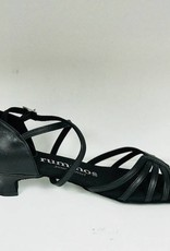 Rummos R320-001-40-Ballroom Shoes 1.3'' Suede Sole Leather-BLACK