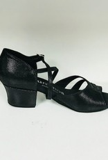 Rummos KAYLA-061-45Ballroom Shoes 1.5'' Suede Sole Diva Leather-BLACK