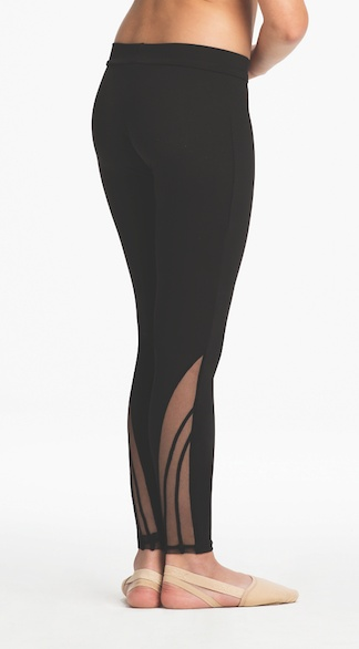 Capezio 11266C-Child Legging With Mesh Detailing-BLACK-SMALL CHILD